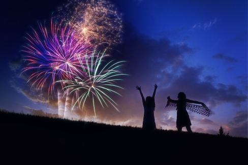 Canva - Fireworks, Silhouette, Fourth Of July, Celebration